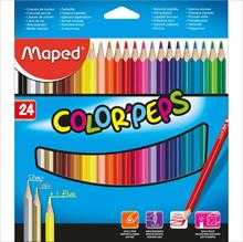 LAPIS DE COR TRIANGULAR COLOR PEPS CLASSICO 24CORES – MAPED