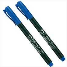 CANETA RETROPROJETOR 1.0MM MEDIA AZUL – FABER-CASTELL